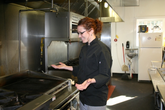 A WOMAN CHEF PREPARING TO MAKE HER MARK ON CENTRAL NEW YORK