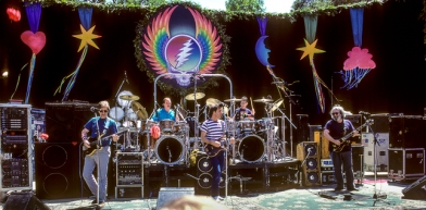 The Grateful Dead 1987 at Stanford University.  (Photo by Bob Minkin)